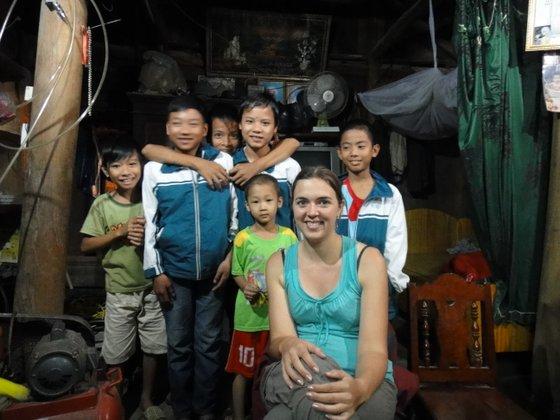 Les enfants des villageois