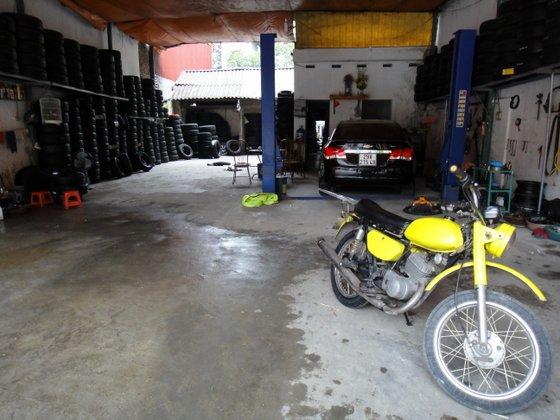 Changement du pneu et de la Chambre à air au garage