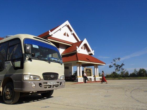 Minivan au poste frontière