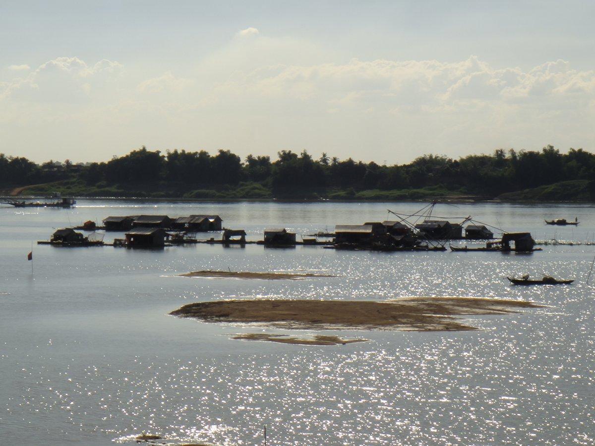 Village flottant sur le Mékong