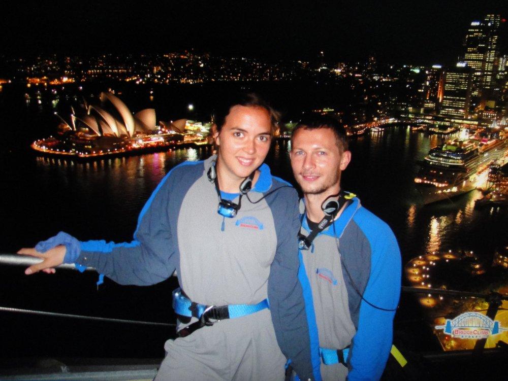 Ascension du Harbour Bridge de nuit