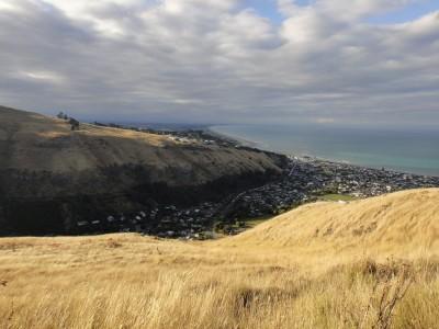 Vue de la côte à proximité de Christchurch