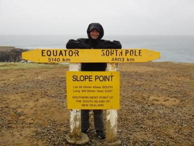 Slope Point : point le plus au Sud de l'île du Sud