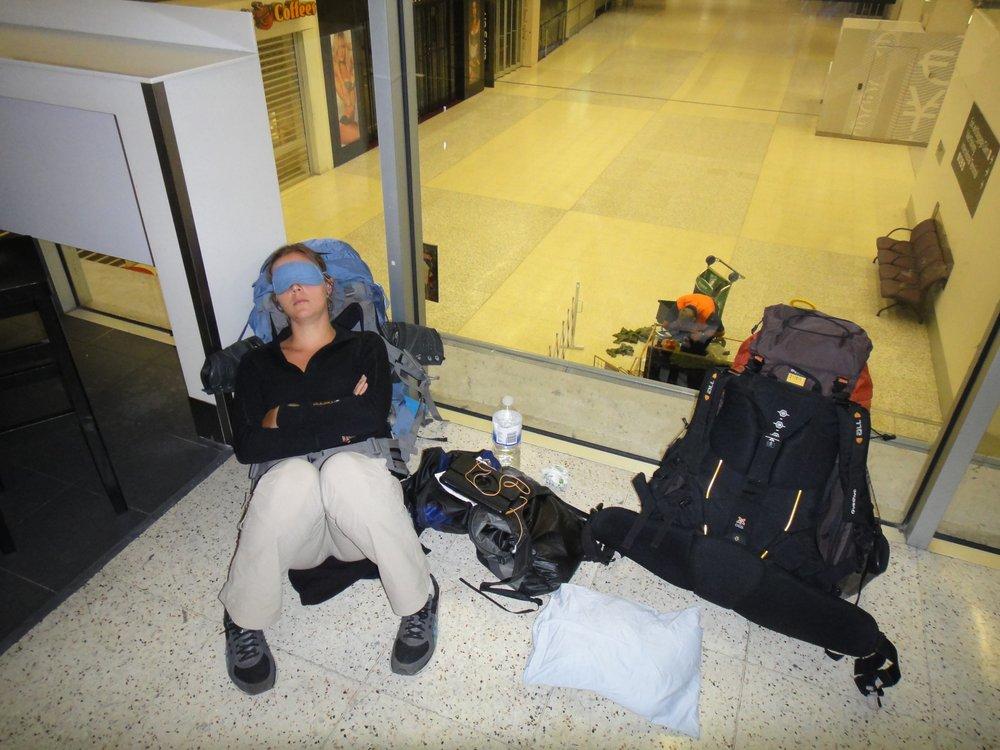 Nuit à l'aéroport